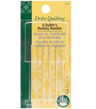 Dritz Quilting Quilter's Basting Hand Needles 6pcs Size 7