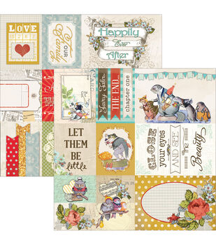 """Storybook Double-Sided Cut Apart Cardstock 12""""X12""""-"""