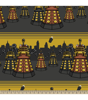 Doctor Who City Scene Fleece Fabric