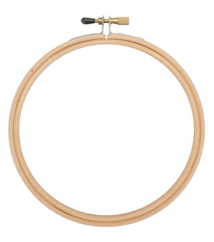"5"" Wood Embroidery Hoop With Round Edges-"