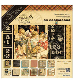 Graphic 45 Deluxe Collector's Edition ABC Primer Papercrafting Set