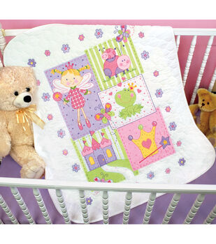 "Dimensions Baby Hugs Fairy Quilt Stamped Cross Stitch Kit-34""X43"""