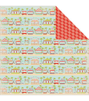 Carta Bella Summer Lovin' Boardwalk Double-Sided Cardstock Paper