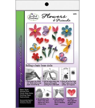 Quilled Creation Quiling Kit-Flowers & Friends