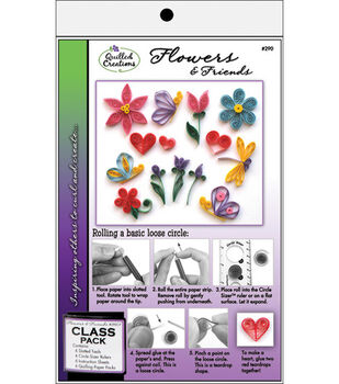 Quilled Creations Quilling Class Pack Kit-Flowers & Friends