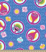 Dreamworks Trolls Badges Fleece Fabric, , hi-res