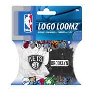 Forever Collectibles Logo Loomz Filler Pack Brooklyn Nets, , hi-res
