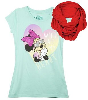 Disney Minnie Mouse Shirt with Scarf
