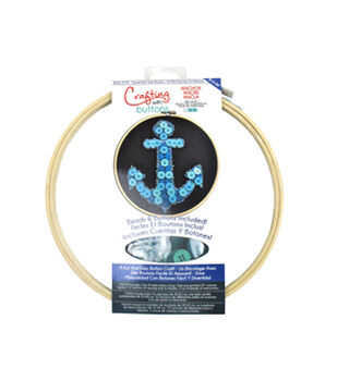 Blumenthal Embroidery Hoop Button Kit Anchor