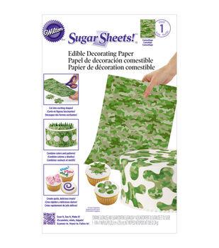 "Wilton® Sugar Sheet 8""X11"" 1/Pkg""-Camouflage"