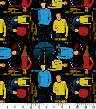 Character Cotton Star Trek Cotton Fabric - Main Characters
