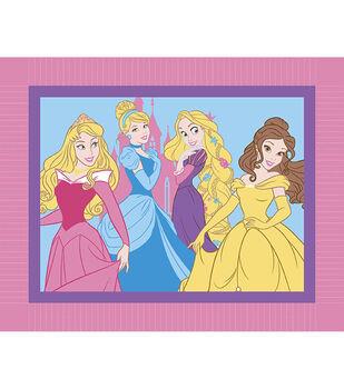 """Disney Princess I Am A Princess 48"""" No Sew Fleece Throw"""