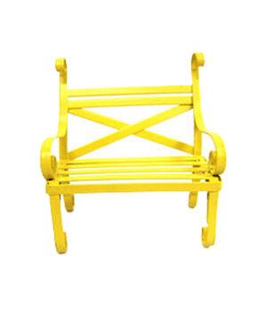 Fairy Garden Metal Bench-Yellow