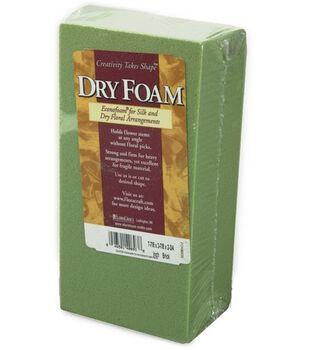 """Floracraft 2-5/8""""x3-1/2""""x7-7/8"""" Desert Foam Block-1PK/Green"""