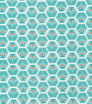 Cloud 9 Premium Cotton Fabric-Dolittles Owl Green, , hi-res