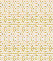 Legacy Studio™ Cotton Fabric-Metallic Gold Triangles, , hi-res
