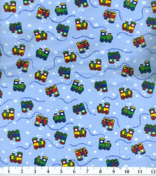 Snuggle Flannel Fabric-Choo Choo