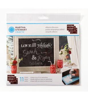Martha Stewart Crafts ® Chalkboard Silkscreens - Phrases
