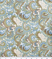 Keepsake Calico™ Cotton Fabric-Blue Beige Paisley, , hi-res