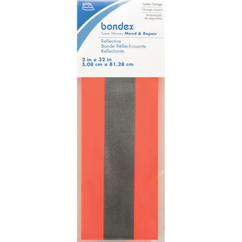 "Bondex Iron-On Florescent Reflective Tape 2""X32"""
