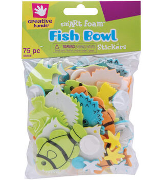 Fibre Craft Foam Stickers-75PK/Fish Bowl