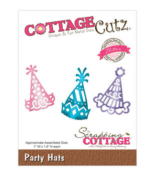 """CottageCutz Elites Die -Party Hats 1""""X1.6"""""""