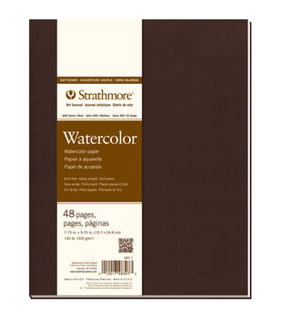 Strathmore Soft Cover Watercolor Journal Book With 48 Pages 7.75''x9.75''