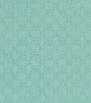 Waverly Upholstery Fabric-Full Circle Turquoise