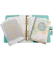 Webster's Pages Color Crush A5 Faux Leather Planner Kit-Light Teal, , hi-res