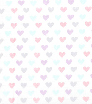 Nursery Fabric-Multi Heart Swaddle