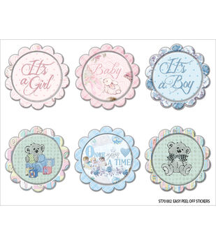 FabScraps Royal Baby Circles Vinyl Stickers