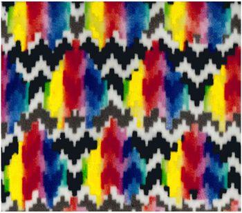 Anti-Pill Fleece Fabric Pixeled Chevron