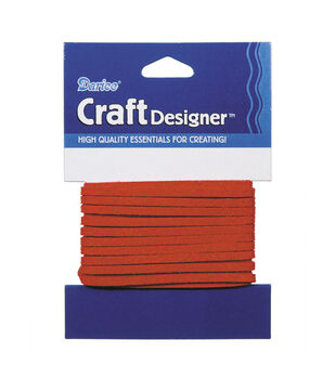 3mm Red Suede Cording, 3 yards