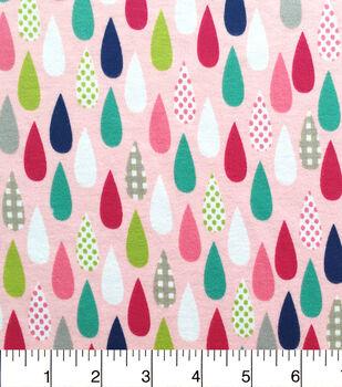 Doodles Juvenile Apparel Fabric-Raindrops Interlock
