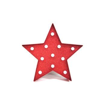 Plastic Led Star Red
