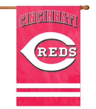 Cincinnati Reds MLB Applique Banner Flag