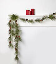Blooming Holiday Long Needle With Berries Garland, , hi-res
