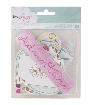 Dear Lizzy Serendipity Cardstock Die-Cuts 52/Pkg-Ephemera W/Gold Foil