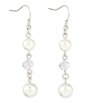 Three Drop Pearl Crystal Earring