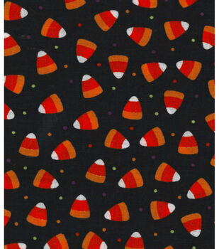 Halloween Spooky Prints Fabric-Candy Corn Dot