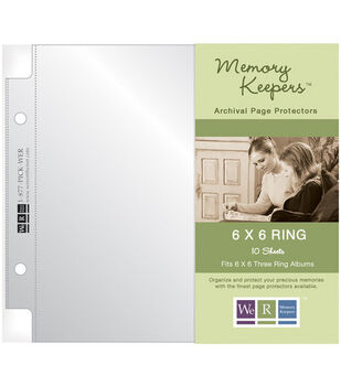 We R Memory Keepers 6''x6'' 2-Ring Page Protectors-10PK