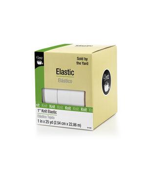 "Dritz 1"" Knit Elastic 25Yds White"