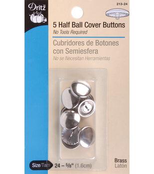 Dritz 1.13'' Half Ball Cover Buttons 3pcs Size 45