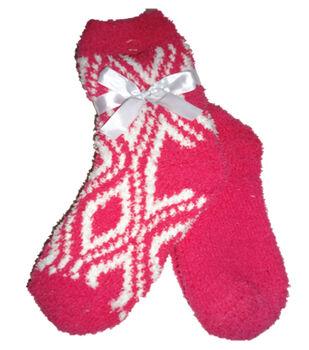 Diamond Dark Pink & White Tactile Sock