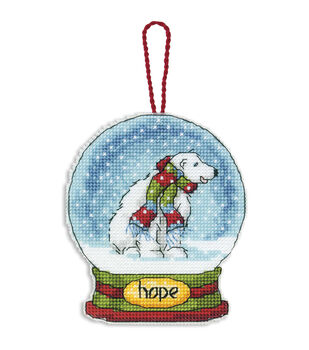 Dimensions Counted Cross Stitch Kit Hope Snowglobe