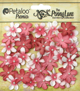 Petaloo Penny Lane Mini 40pcs 0.75'' Pearl Daisies
