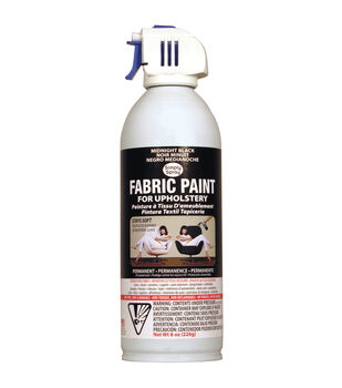 Upholstery Spray Fabric Paint 8oz-Midnight Black