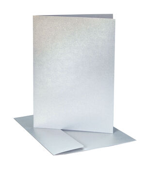 Core'dinations Card/Envelopes:  A2  Silver Pearl; 40 pack