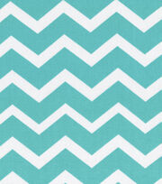 Keepsake Calico™ Cotton Fabric-Turquois&White Chevron, , hi-res