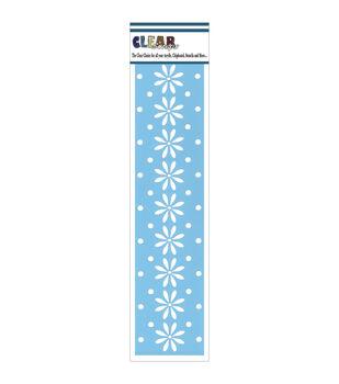 "Clear Scraps Border Stencils 3""X12""-Daisies"